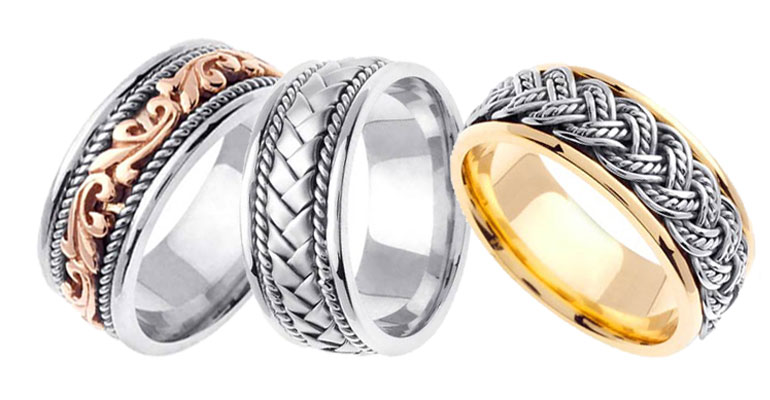 Designer Hand Braided Wedding Bands...