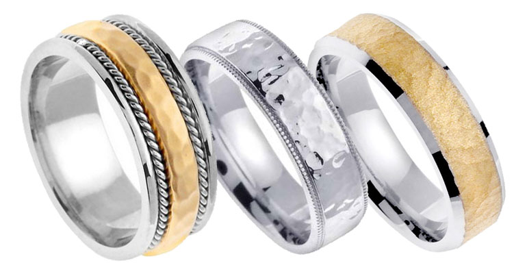 Designer Hammered Wedding Bands...