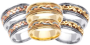 Gold Wedding Band Sets