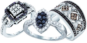 Black Diamond Fashion Rings