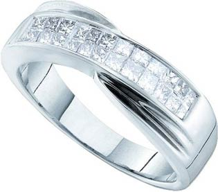 Ladies Diamond Band 14K White Gold 0.50 cts. GD-16854