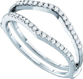 Ladies Diamond Ring Enhancer 14K White Gold 0.25 cts. GD-46728