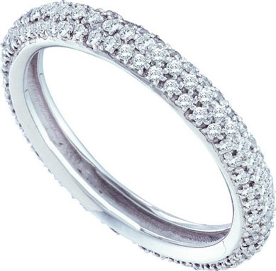 Ladies Diamond Band 14K White Gold 0.75 cts. GD-53234