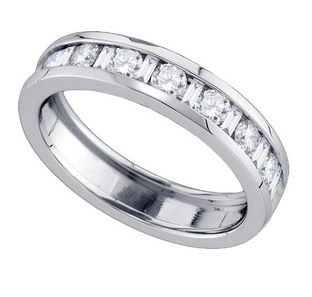 Ladies Diamond Band 14K White Gold 1.00 ct. GD-81009