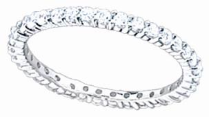 Ladies Diamond Eternity Band 18K White Gold 0.80 cts. S51-3