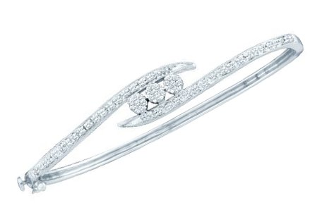 Ladies Diamond Bangle 14K White Gold 0.50 cts. GD-34327