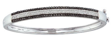 Ladies Diamond Bangle 14K White Gold 1.42 cts. GD-51969