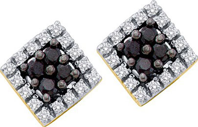 10K Yellow Gold Black Diamond Earrings 0.25 cts. GD-58760