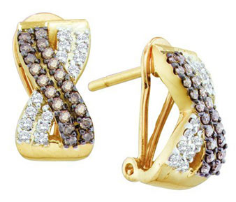 Diamond Cuff Fashion Earrings 14K Gold 0.53 cts. GD-51952