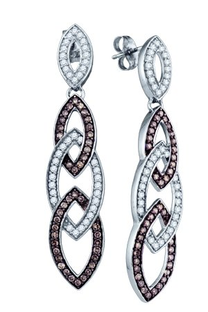 Ladies Diamond Fashion Earrings 10K White Gold 1.35 cts. GD-72346