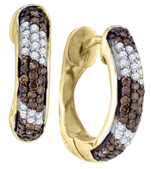 Diamond Hoop Earrings 10K Yellow Gold 0.65 cts. GD-76845