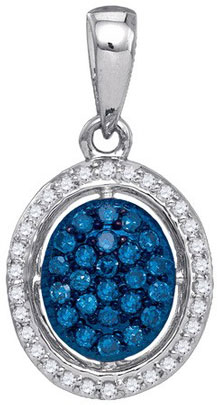 Blue Diamond Fashion Pendant 10K White Gold 0.21 cts. GD-60006