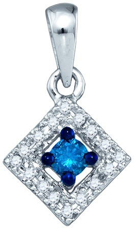 Blue Diamond Fashion Pendant 10K White Gold 0.21 cts. GD-75035