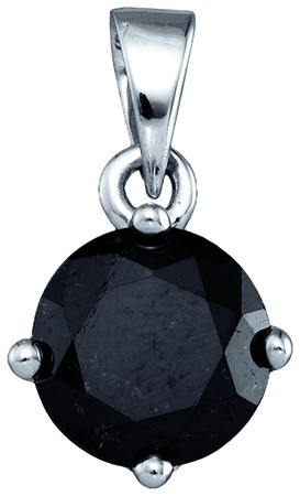 Black Diamond Fashion Pendant 10K White Gold 2.06 cts. GD-81426