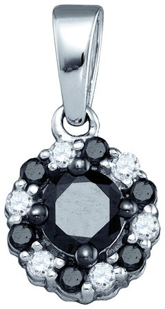 Black Diamond Fashion Pendant 10K White Gold 0.51 cts. GD-83137