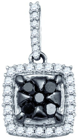 Black Diamond Fashion Pendant 10K White Gold 0.50 cts. GD-83400