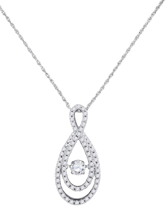Diamond Fashion Pendant 10K White Gold 0.16 cts. GD-97018