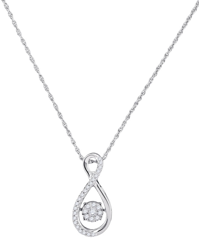 Diamond Fashion Pendant 10K White Gold 0.16 cts. GD-97023