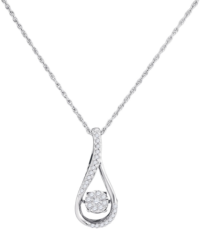 Diamond Fashion Pendant 10K White Gold 0.16 cts. GD-97049