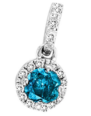 Diamond Cluster Fashion Pendant 14K White Gold 0.25 cts. GS-50657