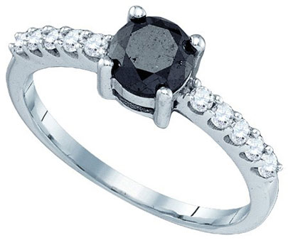 Black Diamond Fashion Ring 10K White Gold 0.99 cts. GD-81462