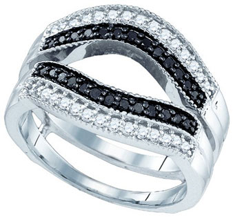 Black Diamond Ring Enhancer 10K White Gold 0.55 cts. GD-81465