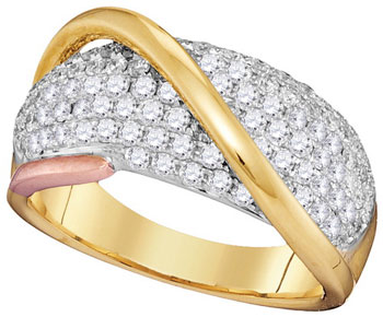 Diamond Fashion Band 14K Tri Color Gold 1.15 cts. GD-95423
