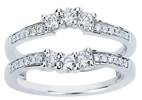 diamond ring enhancer 14k white gold 050 cts cl 34122 - Wedding Ring Enhancers