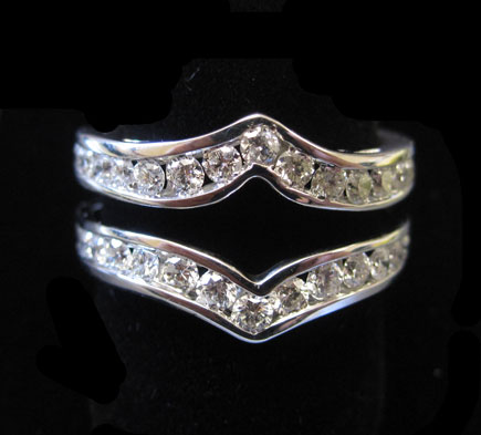 Diamond Ring Enhancer 14K White Gold 1.00 ct. CL-40420