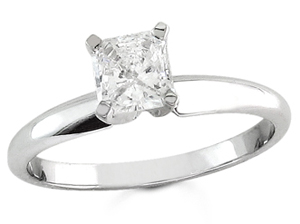 Diamond Solitaire Ring 14K White Gold 0.50 cts DSRP-050
