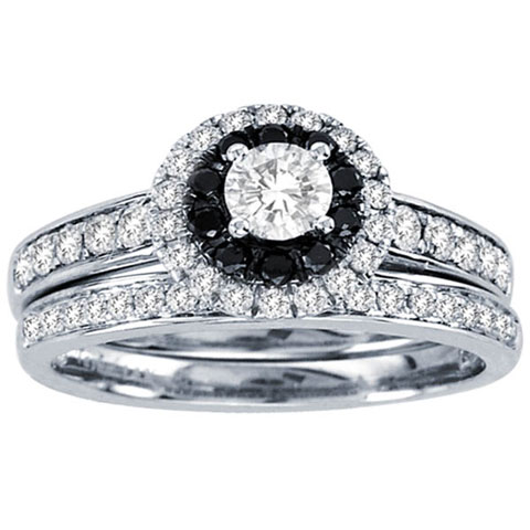 Black Diamond Two Piece Set 14K White Gold 1.00 ct. CL-37172
