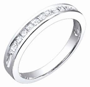 Ladies Diamond Band 14K White Gold 0.50 cts. S52-1