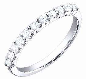 Ladies Diamond Band 18K White Gold 0.40 cts. S52-13