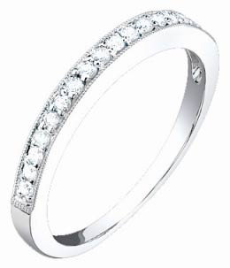 Ladies Diamond Band 18K White Gold 0.20 cts. S52-7