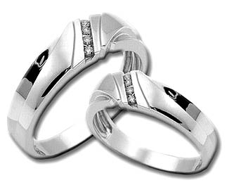 Two Piece Wedding Set 14K White Gold 0.25 cts. HHSD-182