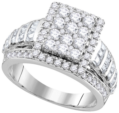 Ladies Diamond Engagement Ring 10K Gold 1.88 cts. GD-111833