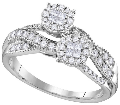 Ladies Diamond Engagement Ring 14K Gold 0.50 cts. GD-112489