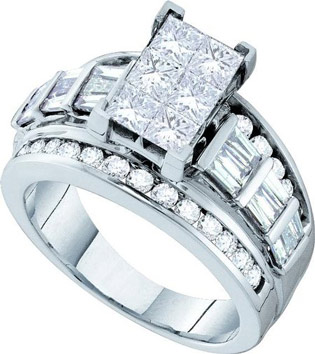 Diamond Engagement Ring 14K White Gold 2.00 ct. GD-47264