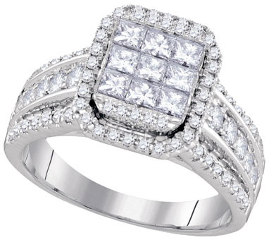 Diamond Engagement Ring 14K White Gold 1.51 cts. GD-94438