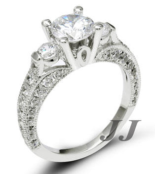 Diamond Engagement Ring 14K Gold 1.90 - 2.65 tcts SK-543