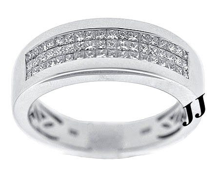 Men's Diamond Band 14K White Gold 1.18 cts. 9R1021