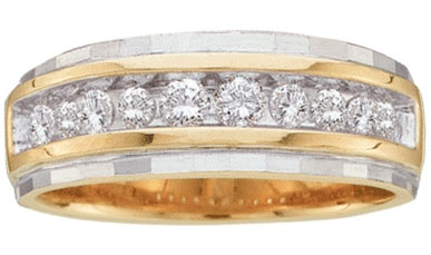 Men's Diamond Ring 10K Two Tone Gold 0.25 cts. GD-16325