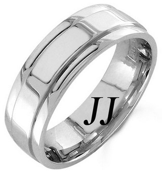 White Gold Polished Wedding Band 7mm WG-1053