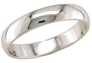 4mm Plain Platinum Wedding Band Comfort Fit Platcf